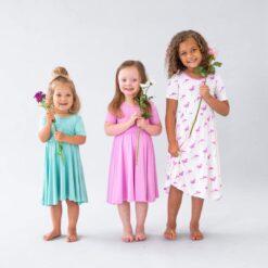 Kyte BABY Twirl Dress in Bubblegum