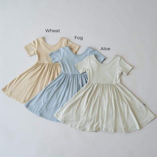 Kyte BABY Twirl Dress in Fog
