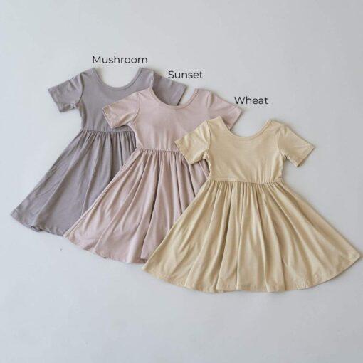 Kyte BABY Twirl Dress in Mushroom