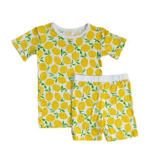 Little Sleepies Lemons Short Sleeve and Shorts Bamboo Viscose Pajamas