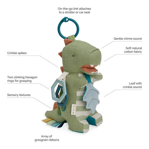 Itzy Ritzy Dino Activity Plush with Teether Toy