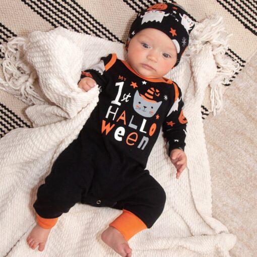 Tesa Babe Cutest Pumpkin in the Patch Halloween Romper