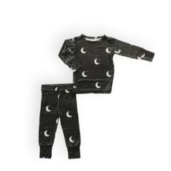 Mai Bee Gray Night Bamboo Two-Piece Pajama Set