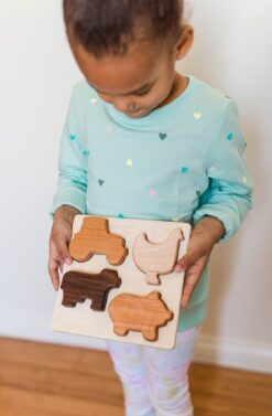 Bannor Toys Chunky Wooden Farm Puzzle