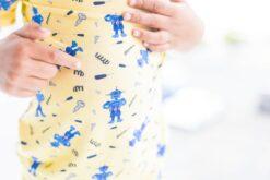 CuteCotton Robots Short Sleeve and Shorts Bamboo Pajamas