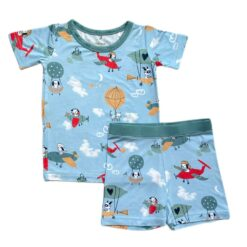 Little Sleepies Fly Away With Me Short Sleeve & Shorts Bamboo Pajamas