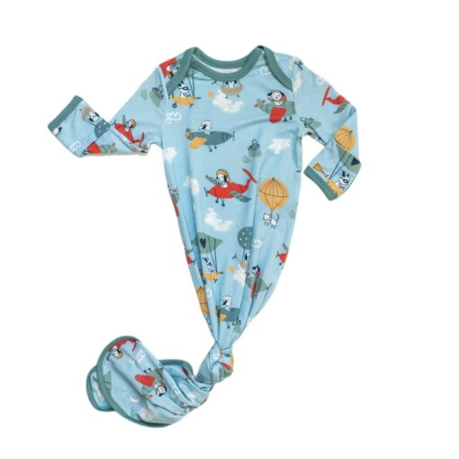 Little Sleepies Fly Away With Me Bamboo Viscose Infant Knotted Gown