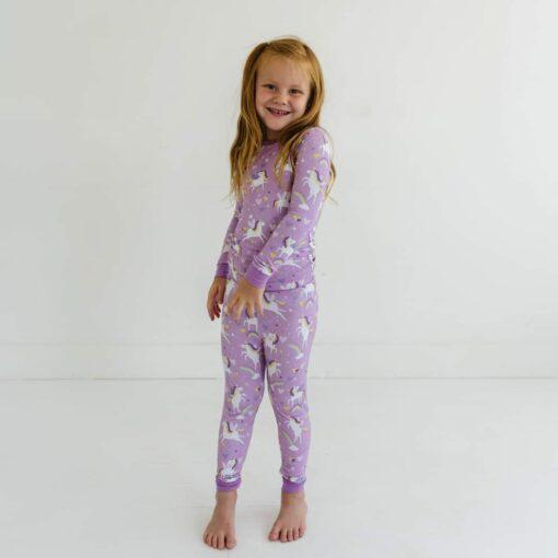Little Sleepies Sienna's Unicorns Two-Piece Bamboo Viscose Pajama Set