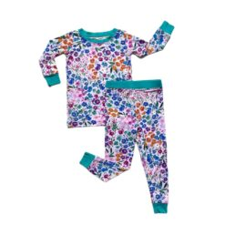Little Sleepies Sweet Pea Floral Bamboo Viscose Two-Piece Pajama Set