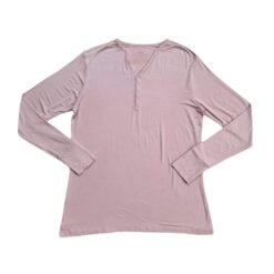 Little Sleepies Dusty Mauve Fall Leaves Bamboo Women's Long Sleeve Pajama Top