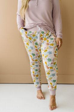 Little Sleepies Dusty Mauve Fall Leaves Bamboo Women's Pants