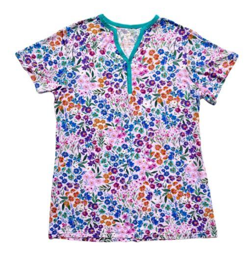 Little Sleepies Sweet Pea Floral Short Sleeve Women's Bamboo Pajama Top