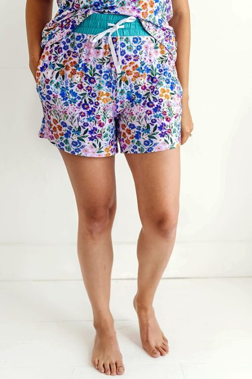 Little Sleepies Sweet Pea Floral Women's Bamboo Pajama Shorts