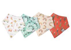 Copper Pearl Maui Baby Bandana Bib Set 4-Pack