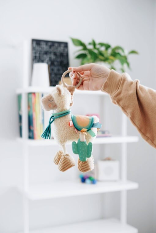 Itzy Ritzy Llama Activity Plush Silicone Teether Toy