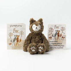 Slumberkins Fox Kin and Board Book Set for Family Change