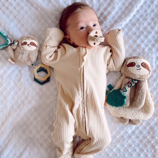 Itzy Ritzy Sloth Attachable Travel Toy Ritzy Jingle