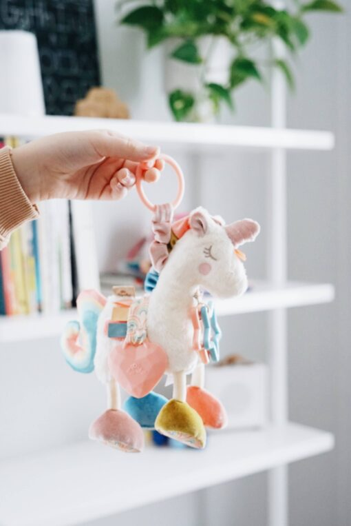 Itzy Ritzy Unicorn Activity Plush Silicone Teether Toy