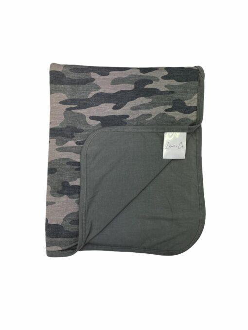 Laree + Co Kace Camo Bamboo Toddler Blanket