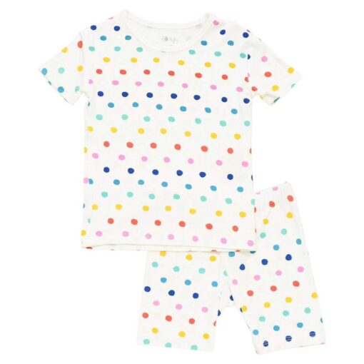 Kyte BABY Short Sleeve Toddler Pajama Set in Polka Dots