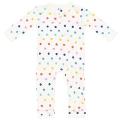 Kyte BABY Zippered Romper in Polka Dots