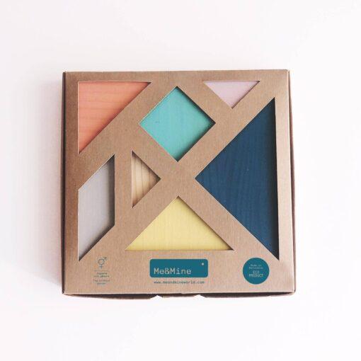 Me&mine Tangram Puzzle in Pastel Colors