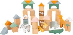 Legler Toys Safari Animal Building Blocks Safari 50 Piece Playset