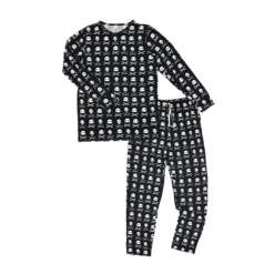 Gigi and Max Skelly Halloween Daddy Two-Piece Men's Bamboo Pajama Set
