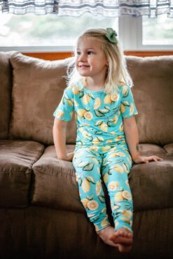 CuteCotton Lemon Squeezy Bamboo Viscose Two-Piece Pajama Set