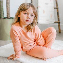 goumi Prickly Pear Bamboo Kid's Loungewear Set
