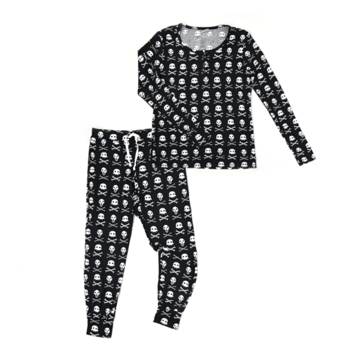 Gigi and Max Skelly Halloween Mommy Two-Piece Women's Bamboo Pajama Set