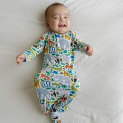 Little Sleepies Jungle Safari Bamboo Viscose Infant Knotted Gown