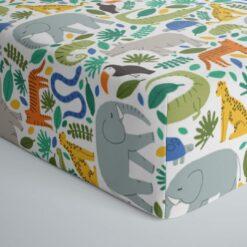 Little Sleepies Jungle Safari Bamboo Viscose Crib Sheet