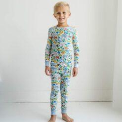 Little Sleepies Jungle Safari Two-Piece Bamboo Viscose Pajama Set
