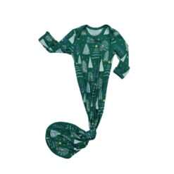 Little Sleepies Green Twinkling Trees Bamboo Viscose Infant Knotted Gown