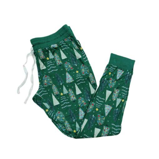 Little Sleepies Green Twinkling Trees Women's Bamboo Viscose Pajama Pants