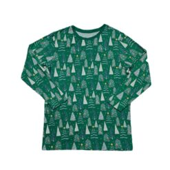 Little Sleepies Green Twinkling Trees Men's Long-Sleeve Bamboo Viscose Pajama Top