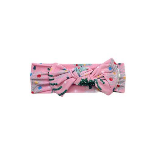 Little Sleepies Pink Twinkling Trees Bamboo Viscose Headband