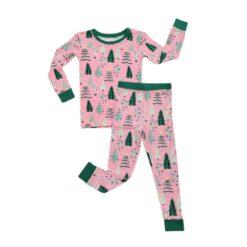 Little Sleepies Pink Twinkling Trees Two-Piece Bamboo Viscose Pajama Set