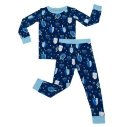 Little Sleepies Dancing Dreidels Two-Piece Bamboo Viscose Pajama Set