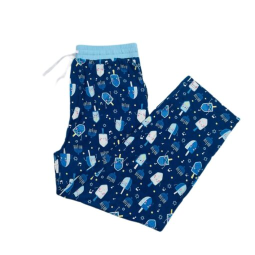 Little Sleepies Dancing Dreidels Men's Bamboo Viscose Pajama Pants