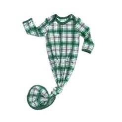 Little Sleepies Noel Plaid Bamboo Viscose Infant Knotted Gown