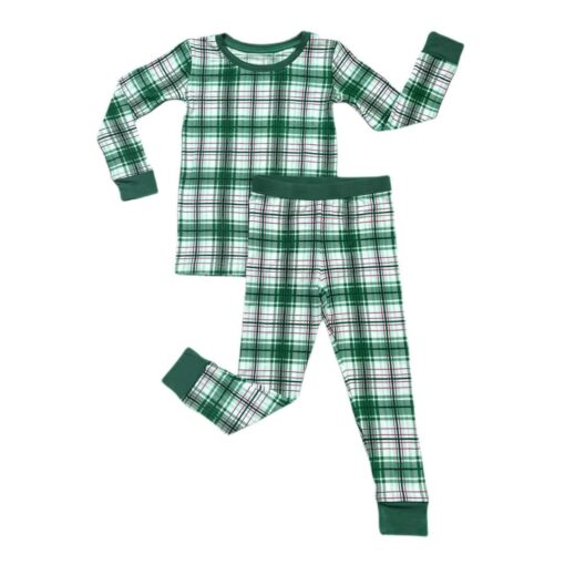 Little Sleepies Noel Plaid Two-Piece Bamboo Viscose Pajama Set