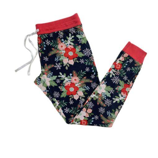Little Sleepies Poinsettia Floral Women's Bamboo Viscose Pajama Pants