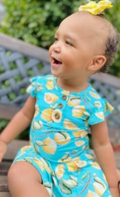 CuteCotton Lemon Squeezy Bamboo Viscose Twirl Dress