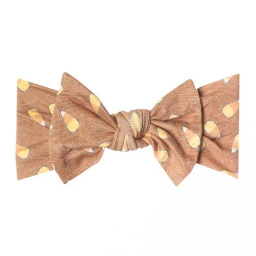Copper Pearl Treat Knit Headband Bow