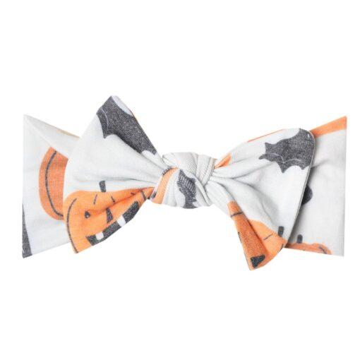 Copper Pearl Trick Knit Headband Bow