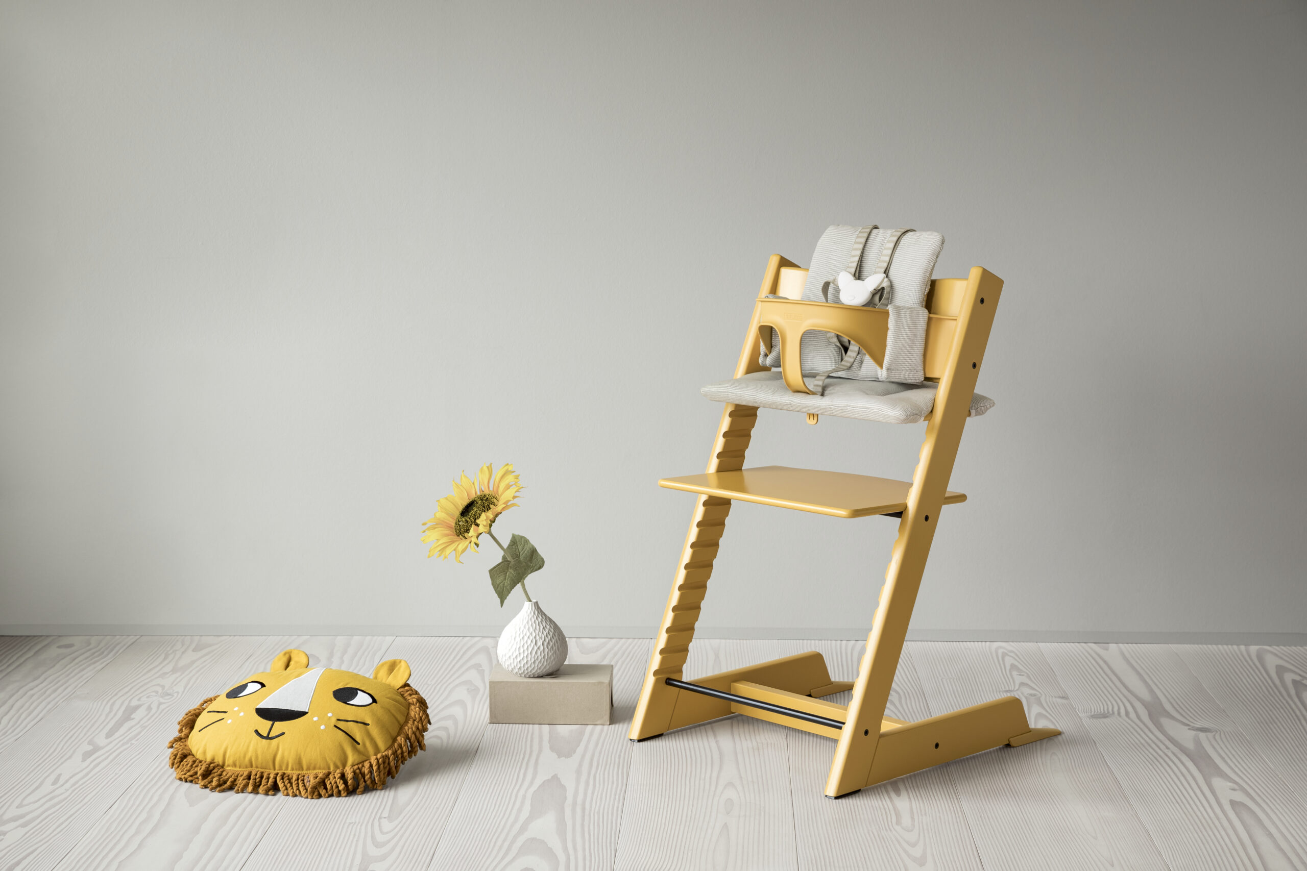 Brand New Sunflower Yellow Tripp Trapp High Chair Now Available at Blossom