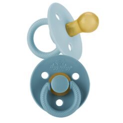 Itzy Ritzy Itzy Soother Natural Rubber Pacifier Set in Harbor + Coast