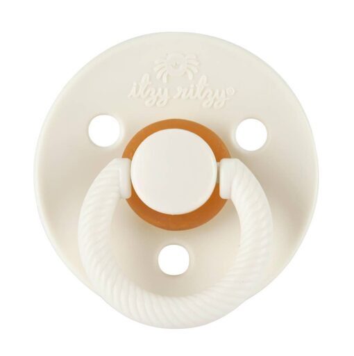 Itzy Ritzy Itzy Soother Natural Rubber Pacifier Set in Coconut + Toast
